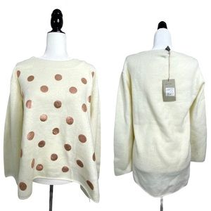 Mismash Pegun Oversized Thick Polka Dot Sweater M